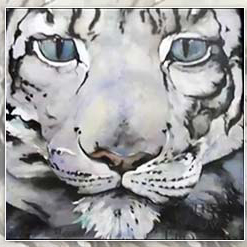 <center> THE SNOW LEOPARD <h4>– Book by Jackie Morris –</h4></center>