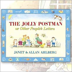 The Jolly Postman book by Janet and Allan Ahlberg. front cover