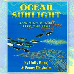 <center>OCEAN SUNLIGHT <h4>HOW TINY PLANTS FEED THE SEAS</h4> <h4>– Book by Molly Bang and Penny Chisholm –</h4></center>