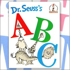 <center>DR SEUSS'S ABC <h4>– Book by Dr Seuss –</h4></center>