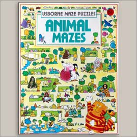 <center>ANIMAL MAZES <h4>USBORNE MAZE PUZZLE SERIES</h4><h4>– Book by Blundell and Tyler –</h4></center>