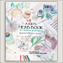 <center>A KID'S HERB BOOK <h4>– Book by Lesley Tierra and Suzie Wilson –</h4></center>