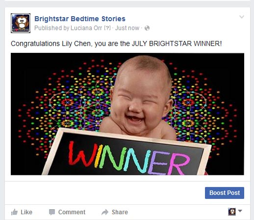 Lily Chen Brightstar Book Winner July