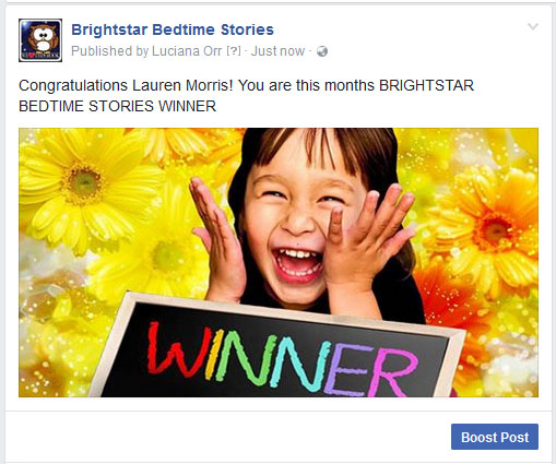 book winner FB Lauren Morris UK