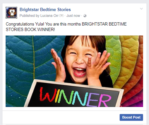 Brightstar book winner July 2017