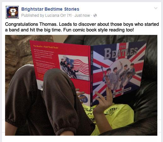 Brightstar bedtime stories book winner November