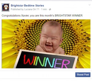 Brightstar Bedtime Stories April 2016 Book Winner Xavier