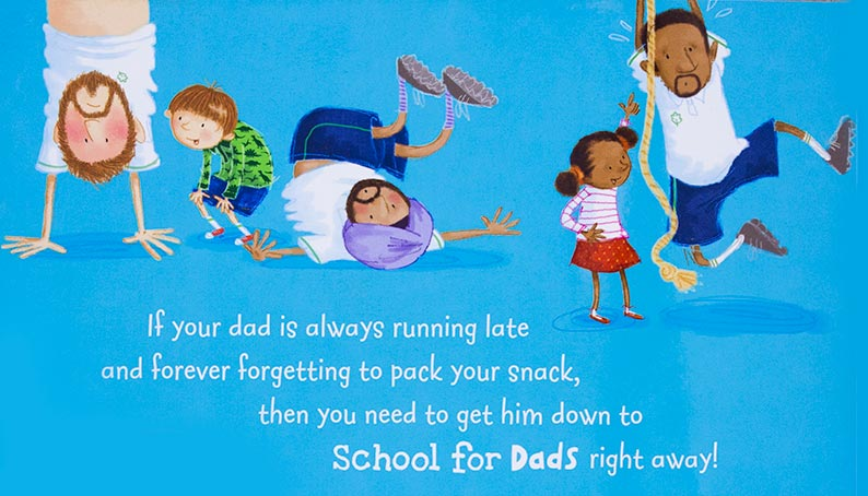 School For Dads - Kids Picture Book