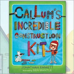 Callum's Incredible Construction Kit book cover by Jonathan Emmett