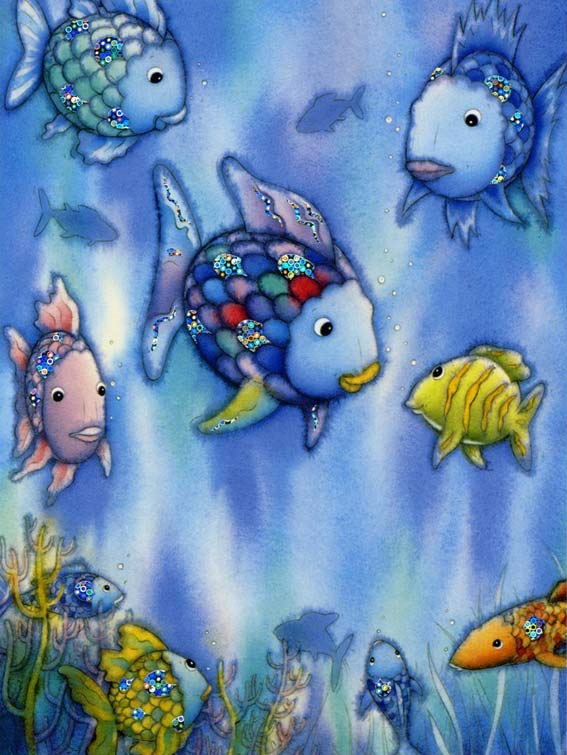 The rainbow fish kid 39 s book by author and illustrator for The rainbow fish