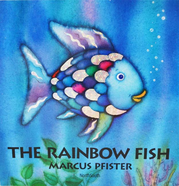 The rainbow fish kid 39 s book by author and illustrator for Rainbow fish author