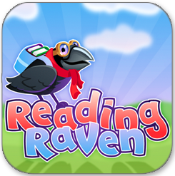 Reading Raven learn to read app educational games