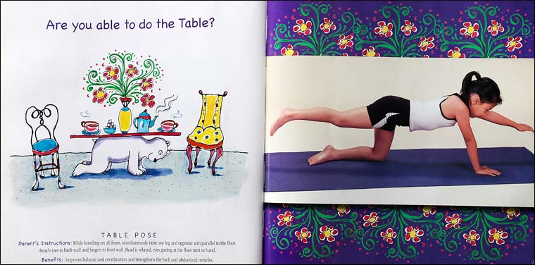 YOGA BEAR | childrens learn yoga book