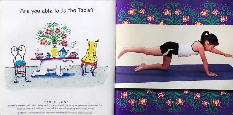 YOGA BEAR | childrens learn yoga book
