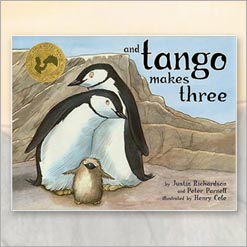 <center>AND TANGO MAKES THREE <h4>– Book by Justin Richardson and Peter Parnell –</h4></center>