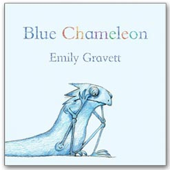 <center>BLUE CHAMELEON <h4>– Book by Emily Gravett –</h4></center>