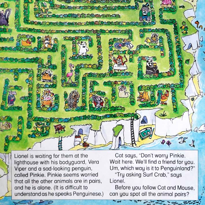 Animal Mazes puzzle book page