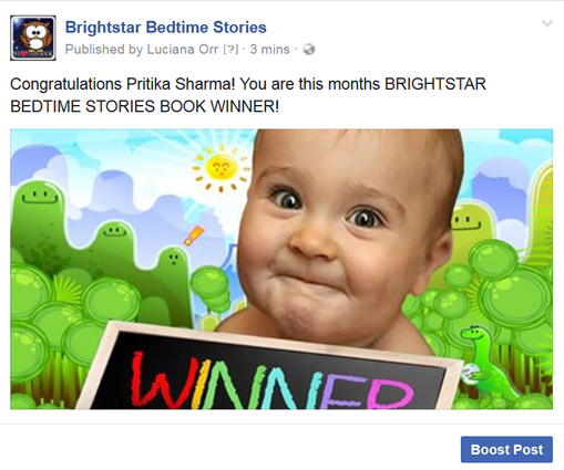 Childrens Aug Book winner Pritika Sharma