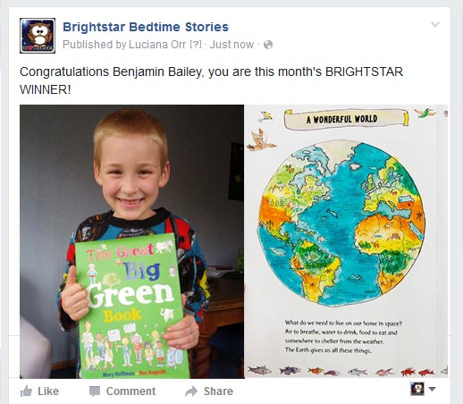 Brightstar bedtime stories Book Winner - May 2016