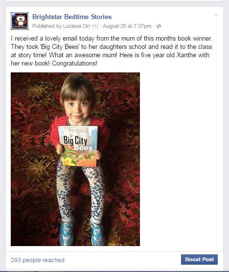 Brightstar book prize winner Xanthe