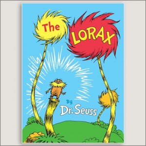 <center>THE LORAX<h4>– Book by Dr Seuss –</h4></center>