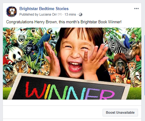 Children's Book competition winner April